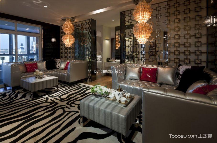 正荣国领白色90平方简约风格两室一厅效果图