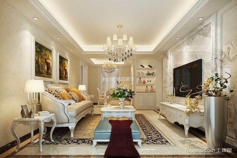 一里洋房180平米简欧风格三房一厅装修效果图