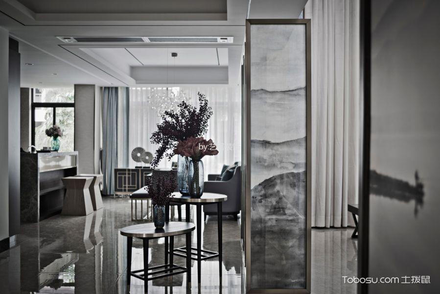 宏德嘉园120平米新中式风格三房两厅装修效果图