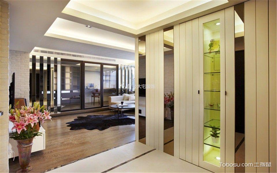 阳光城彩色120平米现代复古混搭三室一厅效果图
