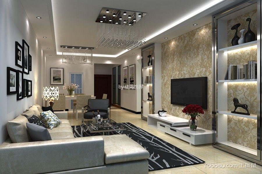 阳光里白色90平米现代风格套房装修效果图案例2017图片大全
