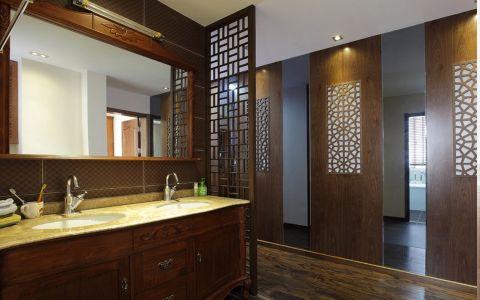 玉兰广场彩色120平米—180平米新中式公寓装修效果图