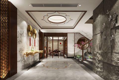 深圳京基天涛轩2017白色300平米以上中式风格独栋别墅装修效果图案例