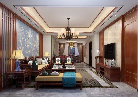 雍城世家160平米新中式套房裝修效果圖