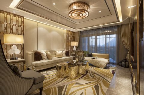 水漾花城白色121平米简约风格三室两厅装修效果图