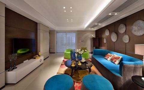 莱蒙城白色120—180平米现代风格三室两厅装修效果图