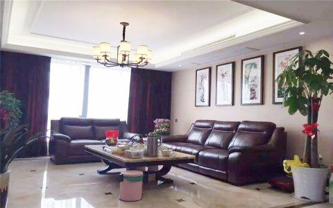 2021新中式150平米效果图 2021新中式三居室装修设计图片