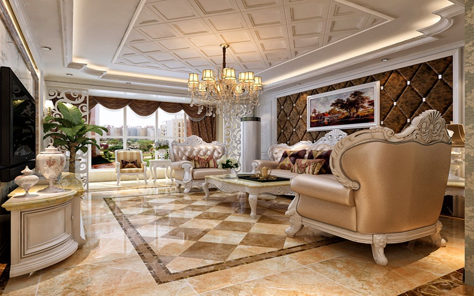 2室1卫2厅89平米欧式风格