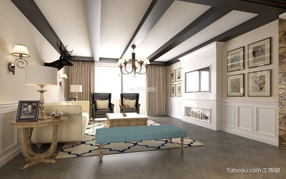 学畔新城三居室美式风格效果图