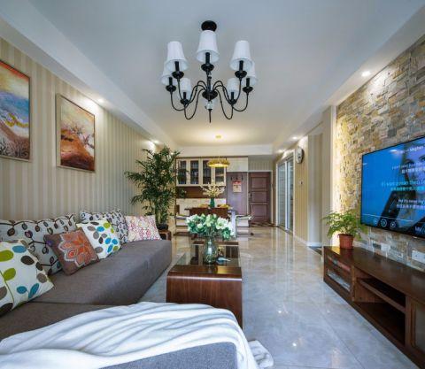 红豆香江豪庭103平现代简约风格实景图