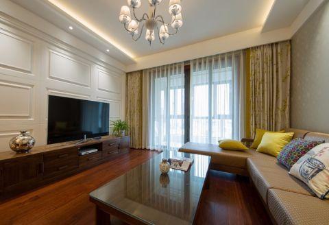 九龙仓碧玺105平三室两厅现代简约雅致风格实景图