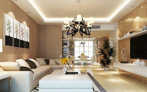 远洋风景三居室现代简约风格效果图