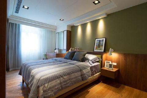 卧室背景墙古典风格装饰图片