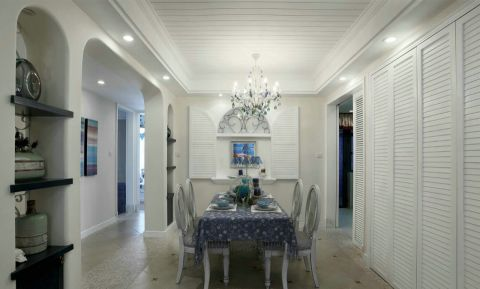 餐厅背景墙地中海风格装潢设计图片