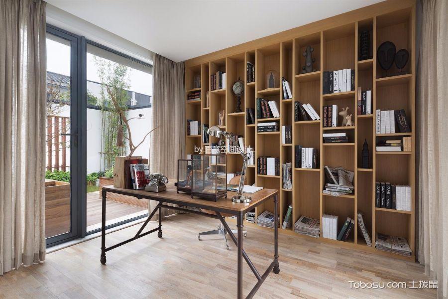 书房博古架北欧风格装修图片图片