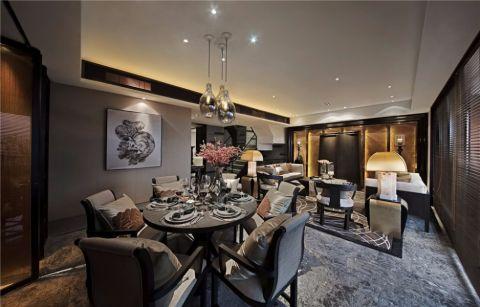保利罗兰香谷两居室新中式家装效果图