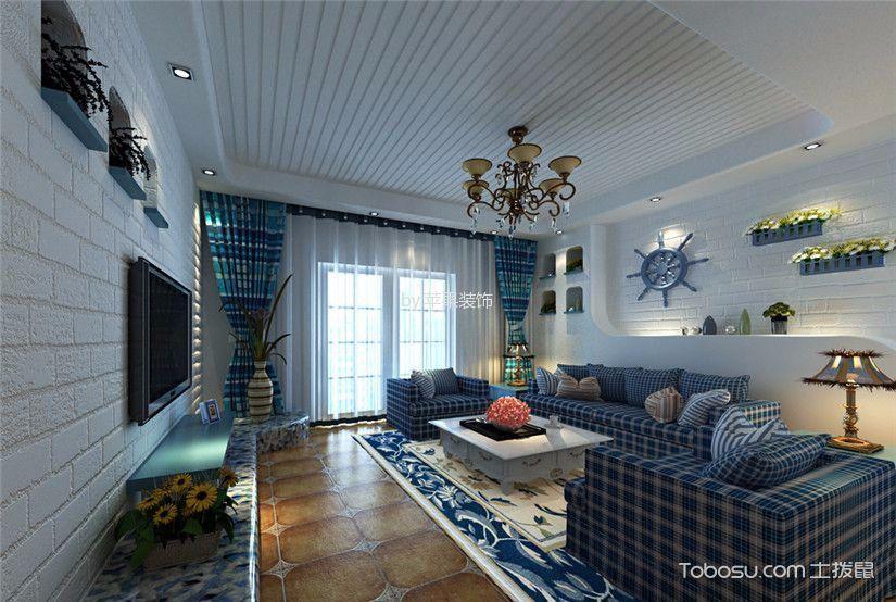 尚上名筑地中海风格三居室效果图