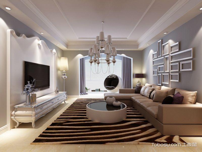 客厅 背景墙_滨河西苑148平米现代简约风格效果图