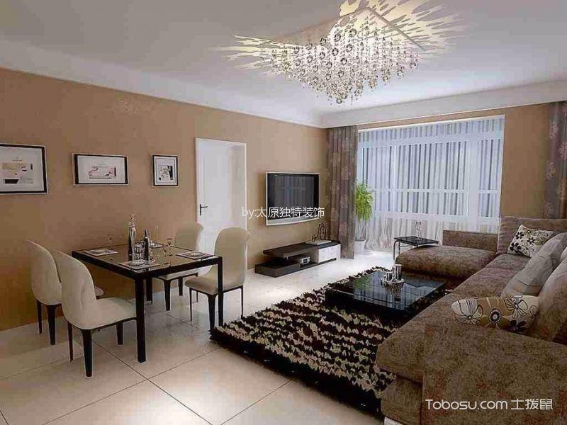 海棠家园二居室现代简约风格效果图