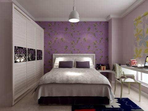 卧室吊顶现代简约风格装潢效果图