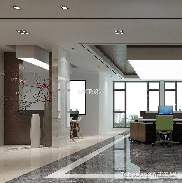 第三城映像欣城现代风格办公室工装设计效果图