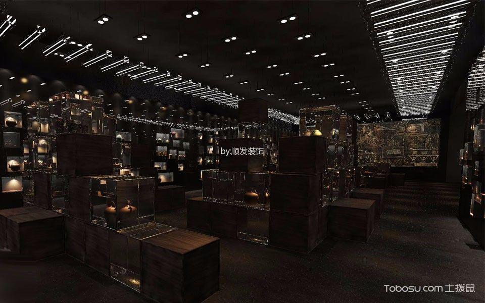 1400平米博物馆灯具装潢实景图片