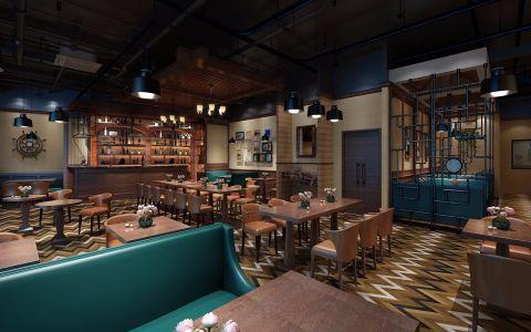 山姆大叔汉中路美式风格西餐厅工装装修效果图