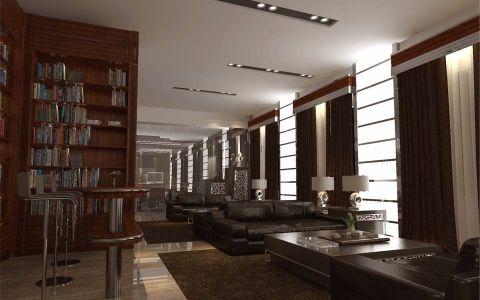 天津商品交易中心现代风格写字楼装修效果图