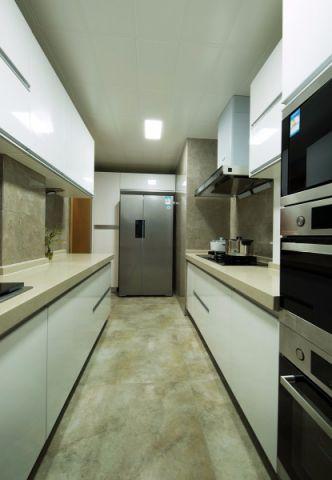 简洁白色美式简约厨房装修效果图