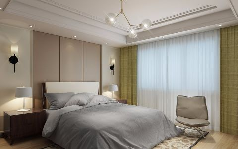 卧室背景墙现代设计图欣赏