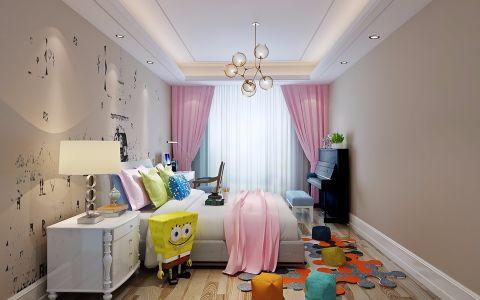 美轮美奂现代粉色背景墙家装设计图