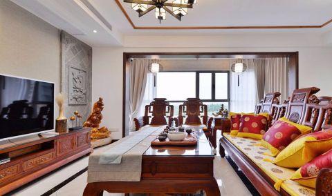 中式客厅背景墙平面图