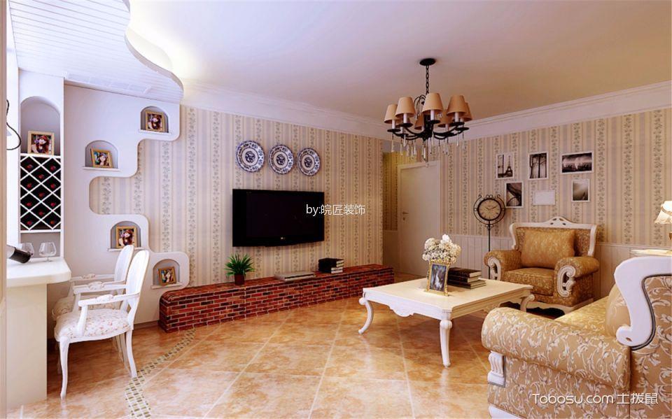 客厅 背景墙_加桥悦山国际北欧风格三居室装修效果图