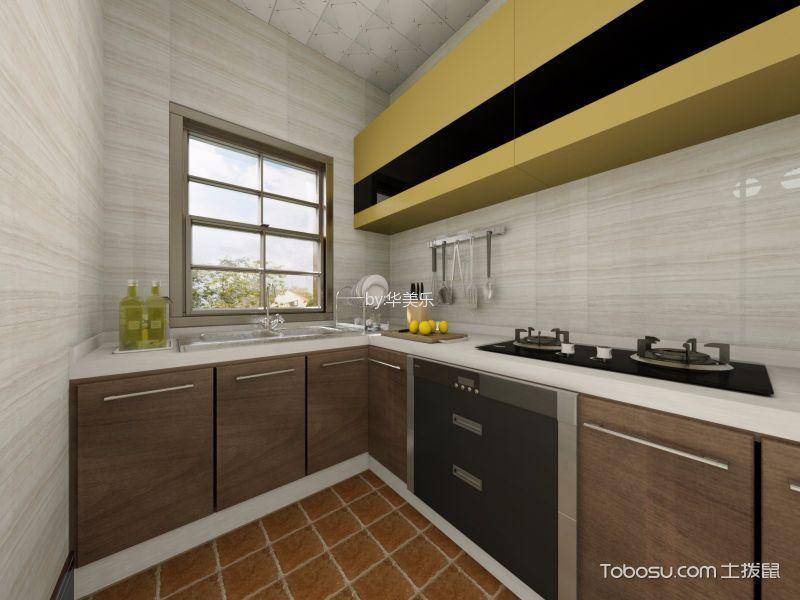 厨房 背景墙_东逸湾中式97平方米装修效果图