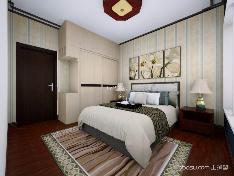 卧室 背景墙_东逸湾中式97平方米装修效果图