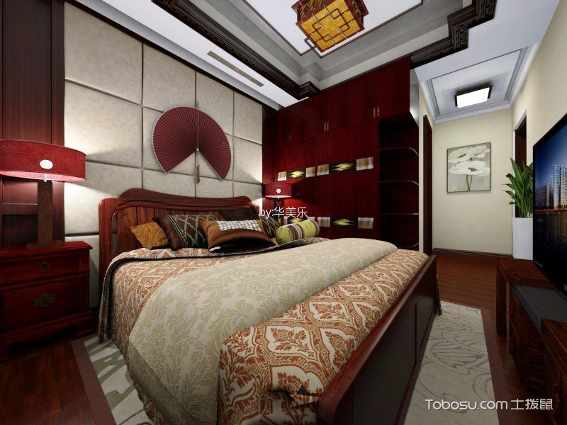 卧室 吊顶_东逸湾中式97平方米装修效果图
