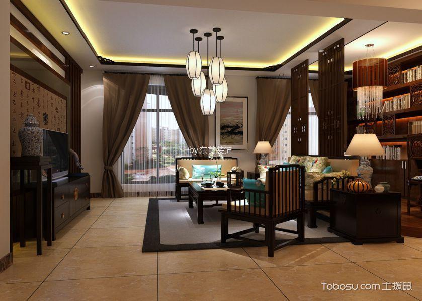 中式风格140平米大户型室内装修效果图
