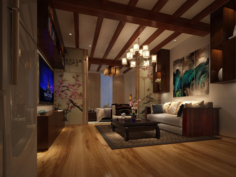 1室1卫1厅31平米新中式风格