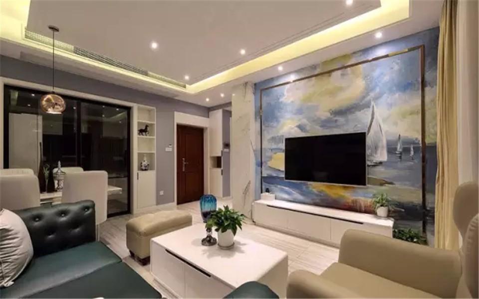 3室2卫2厅100平米现代简约风格