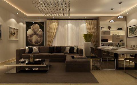 2020简约90平米效果图 2020简约二居室装修设计
