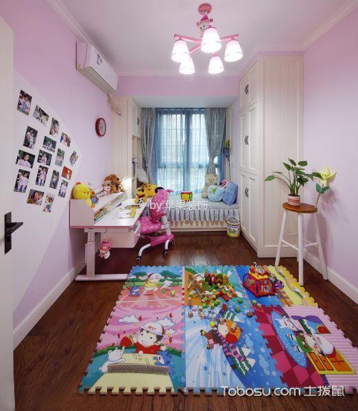 儿童房白色榻榻米混搭风格装修图片