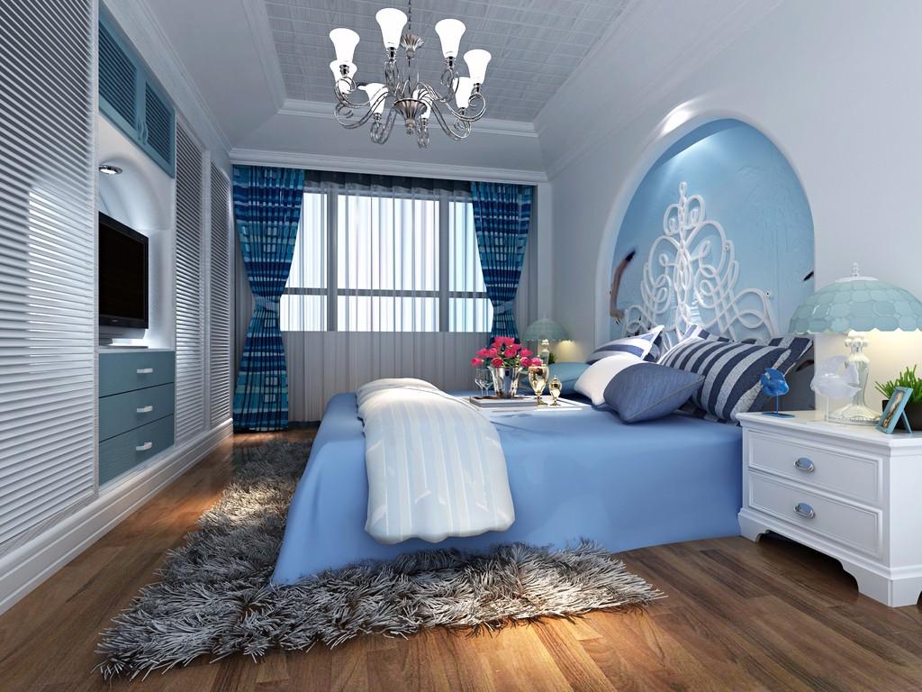 3室1卫2厅86平米地中海风格