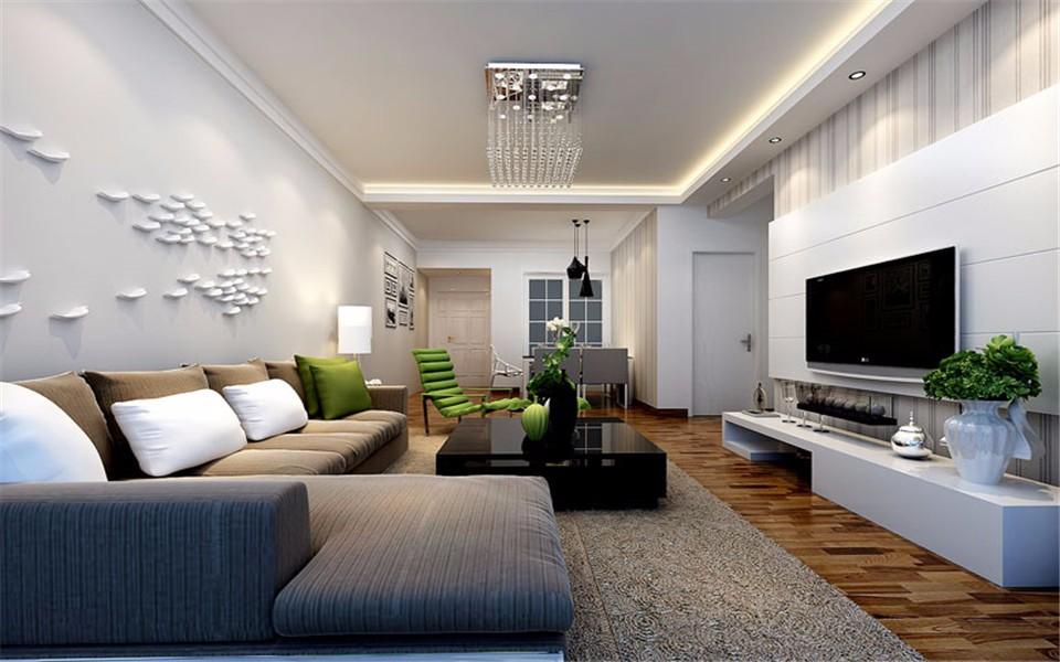 3室1卫2厅107平米现代风格