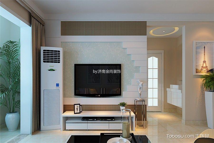 客厅 背景墙_德润天玺112平现代简约风格