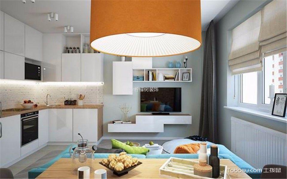 客厅 背景墙_书香名门60平小户型混搭小公寓装修效果图