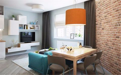 书香名门60平小户型混搭小公寓装修效果图