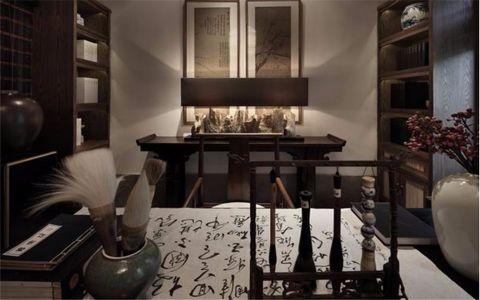文化名园127平四居室中式古典风格装修效果图