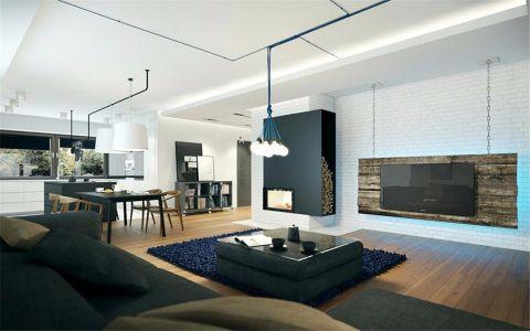 明月港湾142平四居现代摩登公寓装饰效果图