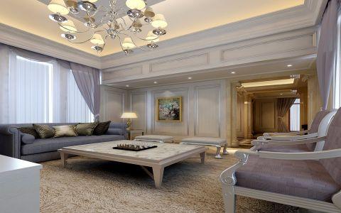 客厅飘窗欧式风格装潢效果图