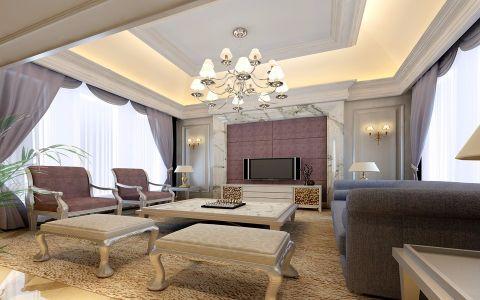 客厅窗帘欧式风格装修图片